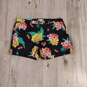 NWT Womens Old Navy Flower Shorts Size 16